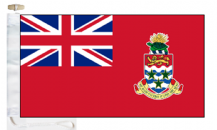 Cayman Islands Civil Red Ensign Courtesy Boat Flags (Roped and Toggled)